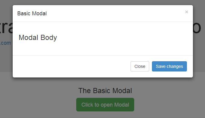 modal pop up